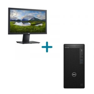 Dell-OptiPlex-3080-Tower i5-10500 4GB 1TB Ubuntu 3 Réf N005O3080MT-UBU + Dell 19-Monitor-E1920H-46.99cm-(18.5)-Black-12M