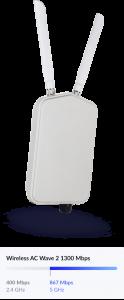 D-Link Nuclias Cloud AP WiFi Extérieur AC1300 Wave2 PoE-DBA-3621P-