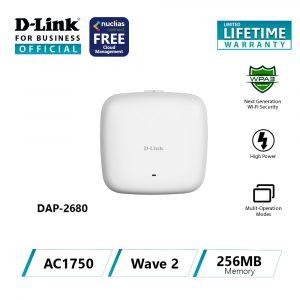 D-Link Point d'accès WiFi AC1750 Mbps Dual Band PoE-DAP-2680
