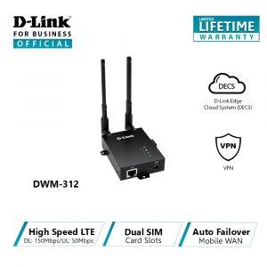 D-Link Routeur industriel 4G Double SIM-DWM‑312-