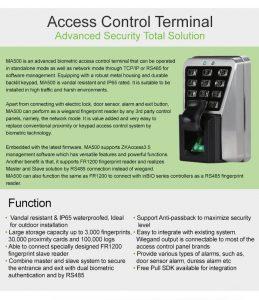 ZKTeco Lecteur D'accès à Empreinte Digitale Biométrique (MA500)