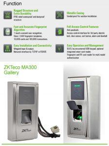ZKTeco Pointeuse biométrique contrôle d'accès-MA300-