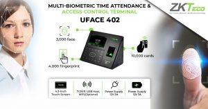 ZKTeco UFace402 Pointeuse-et-controle-dacces-Biometrique-a-Empreintes