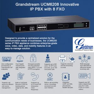 Grandstream IP PBX 8FXO 2FXS-UCM6208-