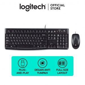 Logitech Ensemble clavier et souris USB AZERTY Français-MK120-