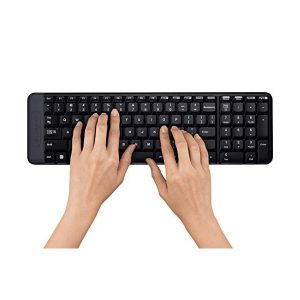 Logitech Ensemble clavier et souris sans fil 2,4 GHz AZERTY-MK220-
