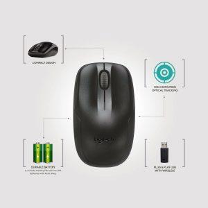 Construit pour continuer  L'utilisation efficace de l'énergie signifie que vous pouvez utiliser 24 mois pour le clavier et 12 mois pour la souris, sans avoir à changer les piles La durée de vie de la batterie du clavier et de la souris peut varier en fonction des conditions de l'utilisateur et de l'ordinateur grâce à la technologie d'économie d'énergie.