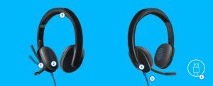 Points forts  1- Micro rotatif à réduction de bruit 2- Qualité sonore riche en haute définition 3- Bandeau et oreillettes rembourrés confortables 4- Commandes de volume et de sourdine supra-auriculaires 5- Câble de 5,9 pi/1,8 m 6- Connexion USB-A plug-and-play