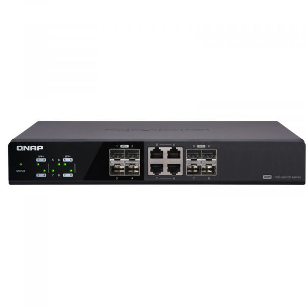 Qnap Switch 8 Ports 4 SFP+ + 4 COMBO SFP+/10 GBE(QSW-804-4C)