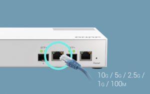 Qnap Switch 8 ports connectivité 2.5GbE et 10 GbE Géré-QSW-M2108-2C-