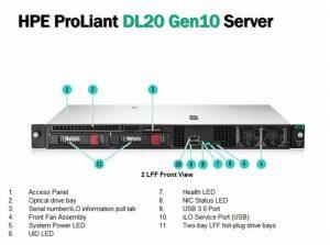 HPE DL20 Gen10 E-2224 1P 16G