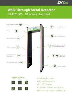 -ZK-D2180S-ZKTeco Portique détecteur de métaux 18 zones