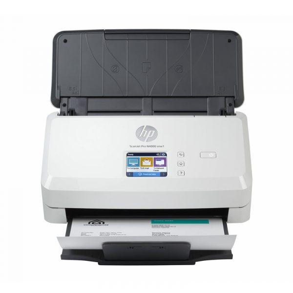 6FW08A HP Scanner ScanJet Pro N4000 snw1 USB 3.0 LAN Wi Fi Recto verso