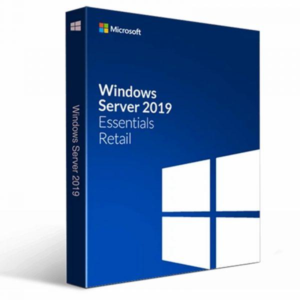 G3S 01300FR Microsoft Licence Windows 2019 Server Essentials 64 bits 1pk Francais