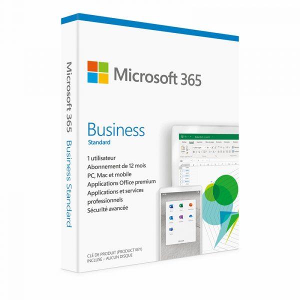 KLQ-00508-Microsoft 365 Business Licence Standard 1 Utilisateur pour 5 Appareils Abonnement 1 an